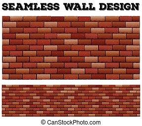 壁, れんが, デザイン, seamless