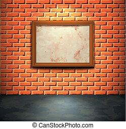 壁, れんが, フレーム