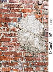 壁, れんが, 古い, 手ざわり