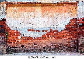 壁, れんが, 古い, 手ざわり, 背景