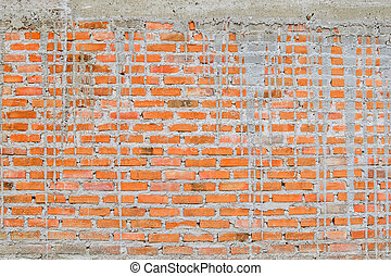 壁, れんが, 建設, グランジ, 背景