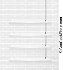 壁, れんが, 白, なだらかに傾斜しなさい
