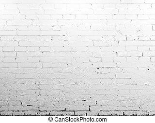 壁, れんが, 白