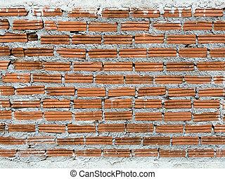 壁, れんが, 背景, 汚い, 手ざわり