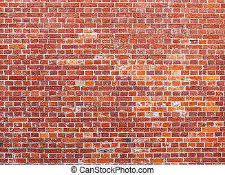 壁, れんが, 赤