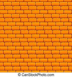 壁, れんが, 黄色, seamless, 手ざわり