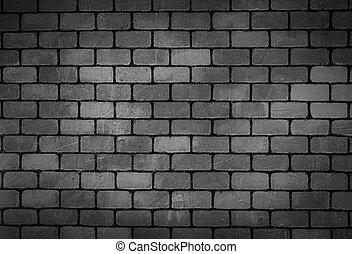 壁, れんが, 黒い背景