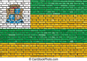 壁, れんが, aracaju, 旗, ペイントされた