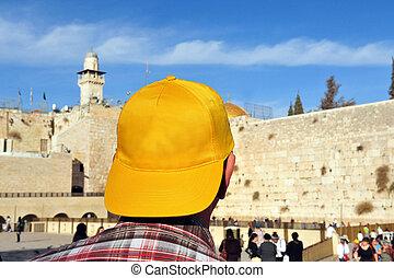 壁, イスラエル, -, 泣き叫ぶ