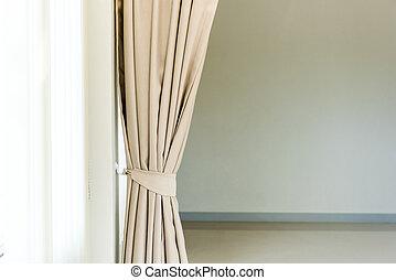 壁, カーテン, 構成, に対して, 優雅である