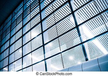 壁, ガラス, カーテン