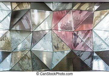 壁, ガラス, 抽象的, texture.