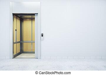 壁, クリーンルーム, エレベーター