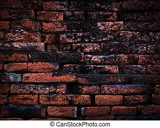 壁, グランジ, 古い, 背景
