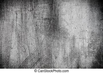 壁, グランジ, 有用, 灰色, 手ざわり