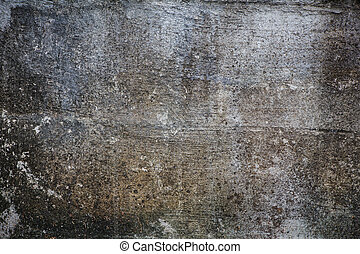 壁, グランジ, 灰色, textured