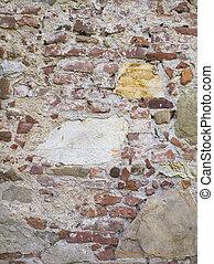 壁, グランジ, 石, 古い