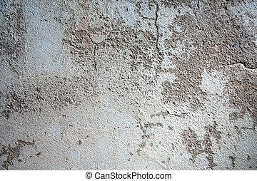 壁, コンクリート, 割れた, 古い