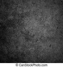 壁, コンクリート, 暗い背景, 黒