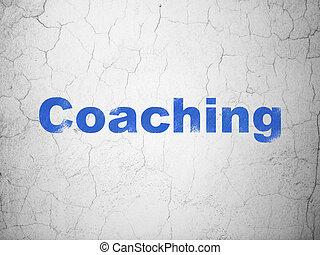 壁, コーチ, 教育, concept:, 背景