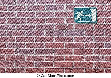 壁, シンボル, 出口