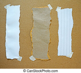 壁, スクラップ, 引き裂かれたペーパー, ボール紙