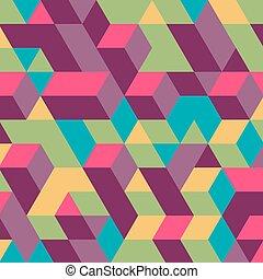 壁, バックグラウンド。, 抽象的, cubes., 3d