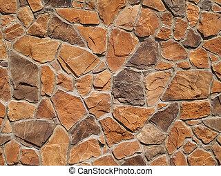 壁, ブラウン, オレンジ, 手ざわり, 岩