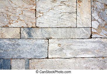 壁, ブロック, 大理石