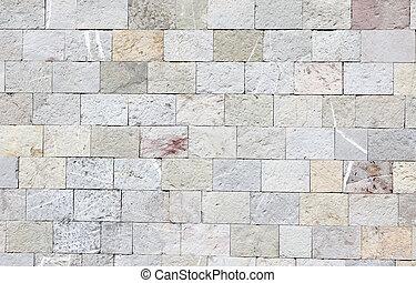 壁, ブロック, 大理石, 手ざわり