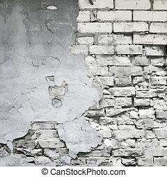 壁, ベクトル, 古い, 背景, 台無しにされる