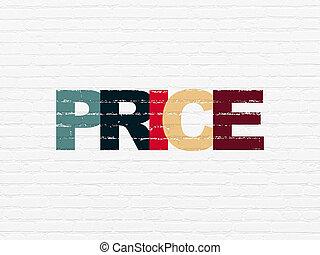 壁, マーケティング, 価格, concept:, 背景