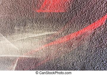 壁, ライト, 塗った, 赤