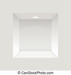 壁, ライト, 適所, 空