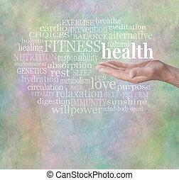 壁, 健康, 単語, フィットネス