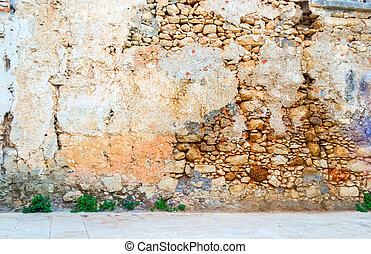 壁, 内部, 石, 古い, aincient