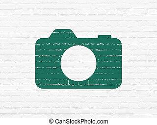 壁, 写真, 休暇, カメラ, 背景, concept: