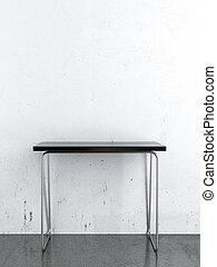 壁, 前部, 白, 黒, テーブル