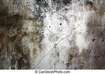 壁, 古い, 手ざわり