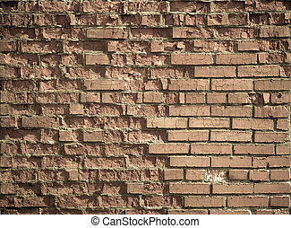 壁, 型, れんが, 身につけられた, 背景