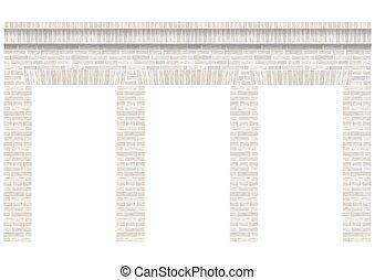 壁, 型, ファサド, アーケード, masonry.