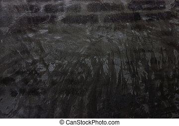 壁, 塗った, 黒