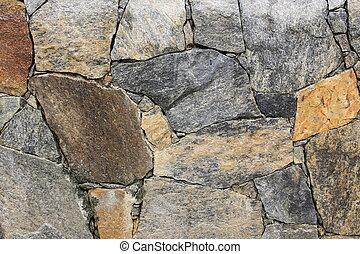 壁, 多彩, 積み重ねられた, 手ざわり, 岩