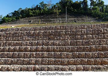 壁, 山, 地すべり, ∥守る∥, 岩