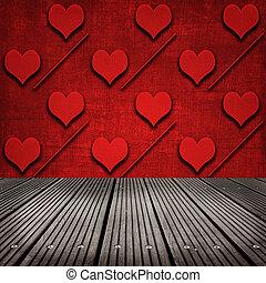 壁, 心, 部屋, パターン