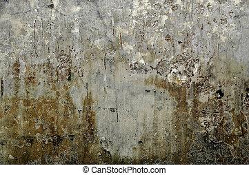 壁, 手ざわり, グランジ, 灰色, 背景