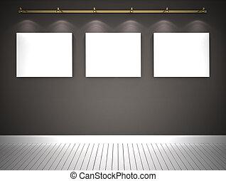 壁, 映像, 灰色, 3