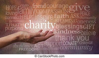 壁, 暖かい, 単語, 慈善