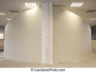 壁, 曲がった, ある, constructed