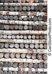 壁, 木材を伐採する